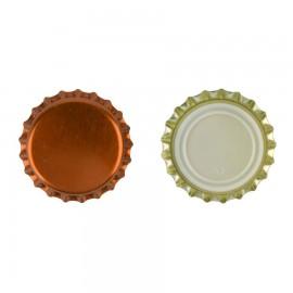 capac metal pentru sticle bere 26 mm BRONZ 100 buc
