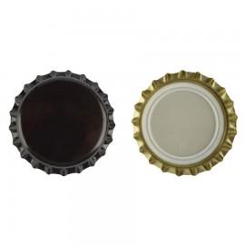 capac metal pentru sticle bere 26 mm NEGRU 100 buc