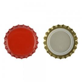 capac metal pentru sticle bere 26 mm ROSU 100 buc