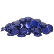 capac metal pentru sticle bere 26 mm ALBASTRU 100 buc