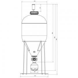 Recipient fermentare conic sub presiune Fermentasaurus 35 l
