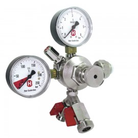 regulator presiune CO2 cu doua iesiri 3 bar