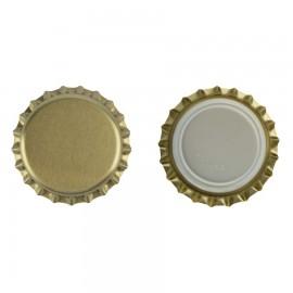 capac metal pentru sticle bere 26 mm AURIU 100 buc